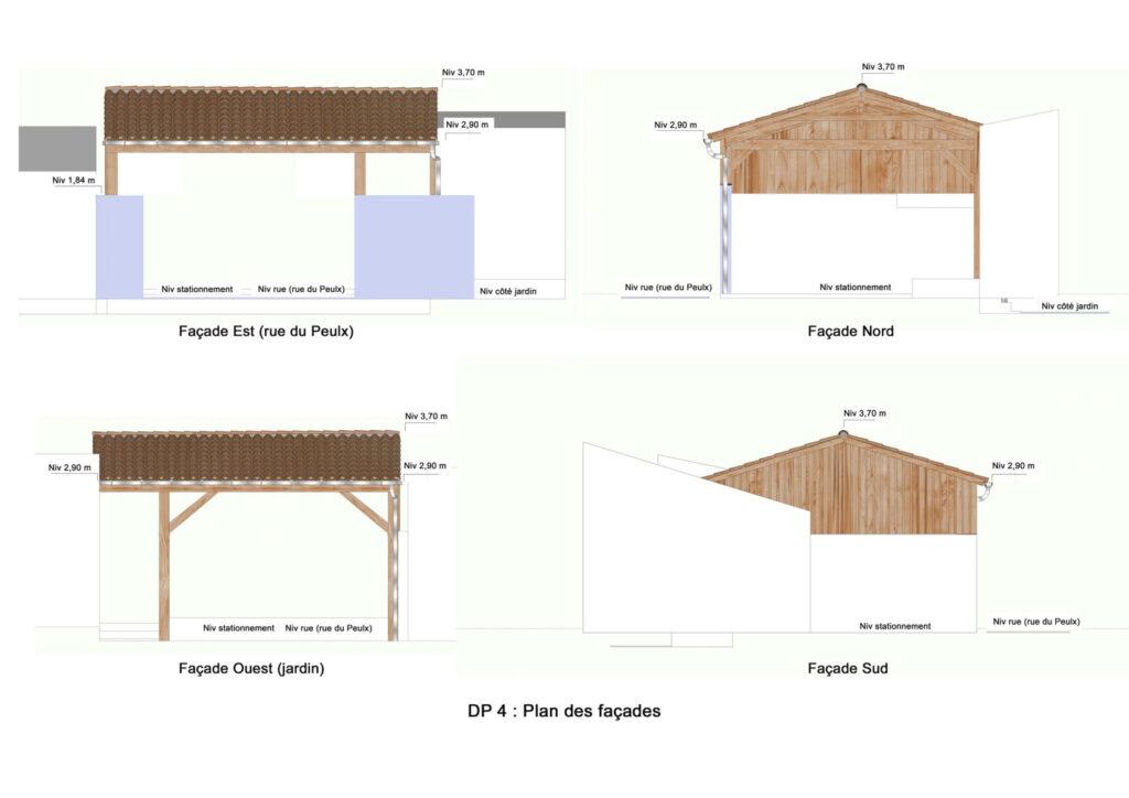 Déclaration préalable 4 - Plan des facades