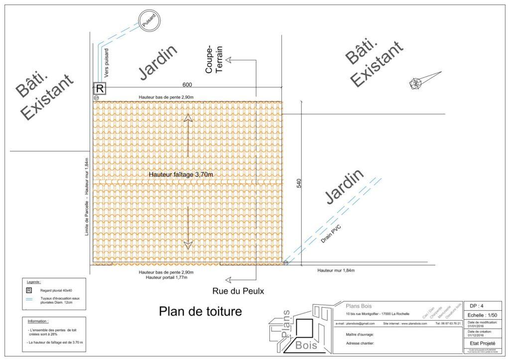Déclaration préalable 4 - Plan des toitures