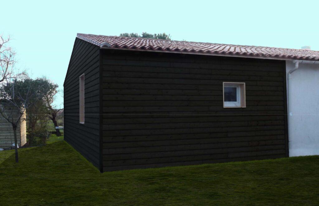 Extension Ossature bois 1 - Aubenas
