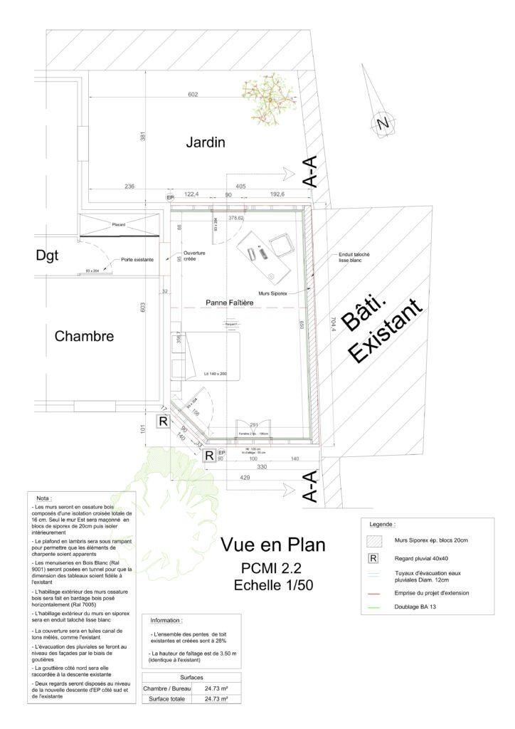 PCMI 2.2 - Vue en plan