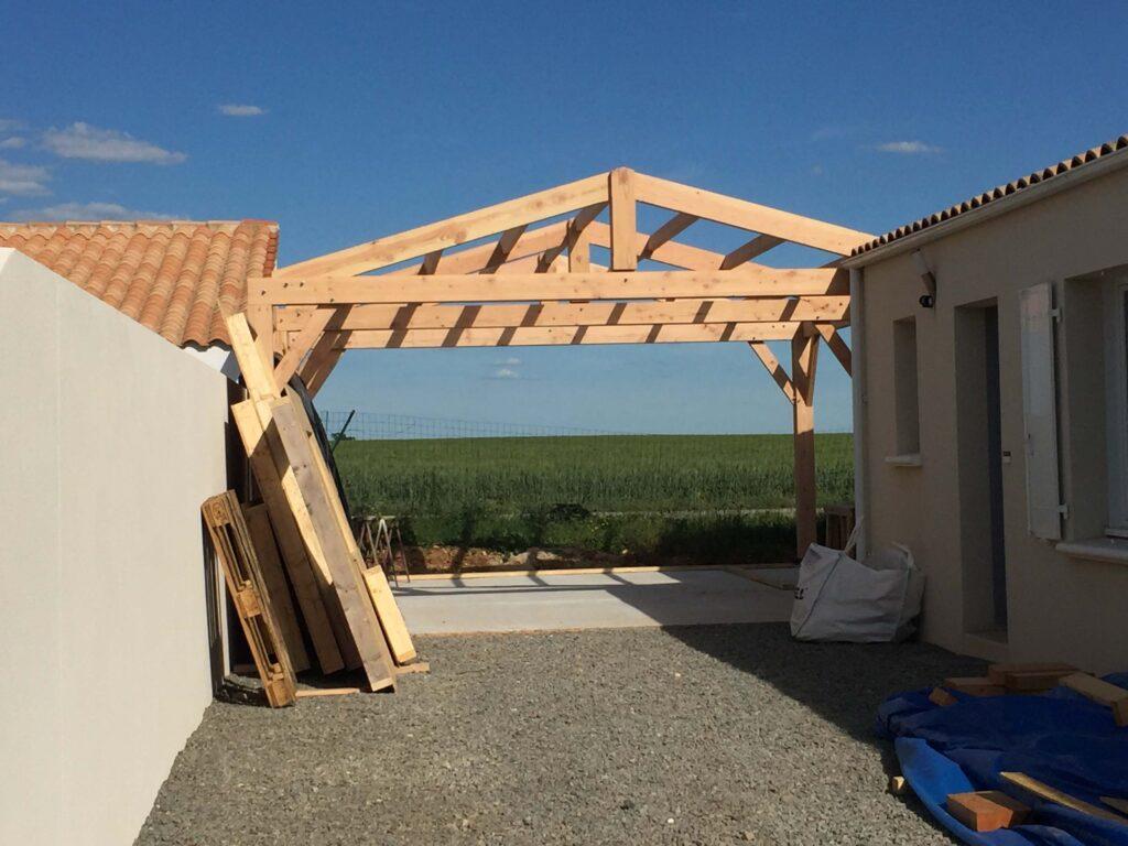 Préau bois Abri Garage - Largentière 1