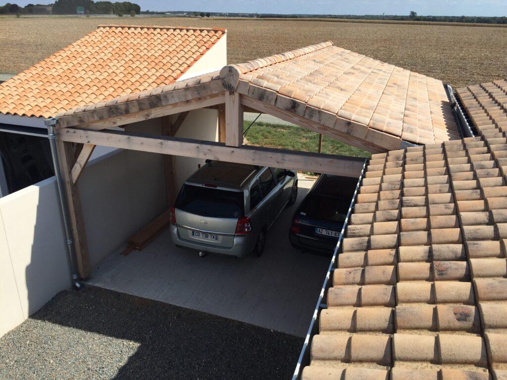 Préau bois Abri Garage - Largentière 4